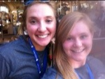 Maddy and I in front of the carousel at Elitch Gardens.