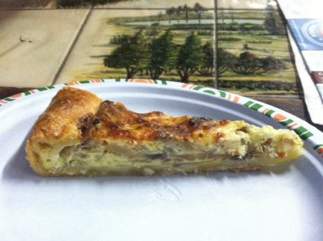 The caramelized onion and mushroom quiche-esque tart from Buon Italia