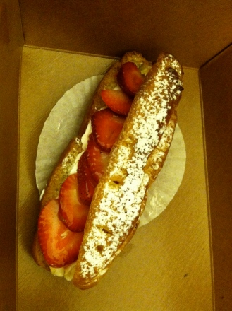The strawberry eclair