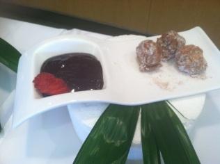 CInnamon Sugar Beignets with Chocolate Ganache