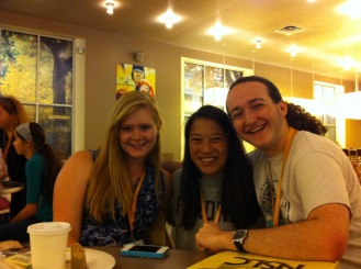 Me, Savannah, and the pastry guy Marco at breakfast on the last day