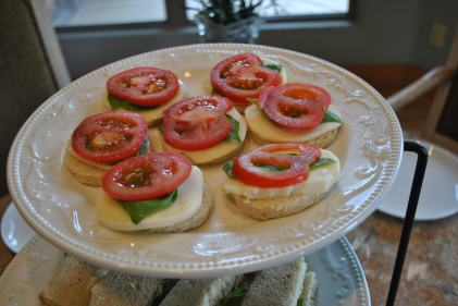 Caprese Tea Sandwiches