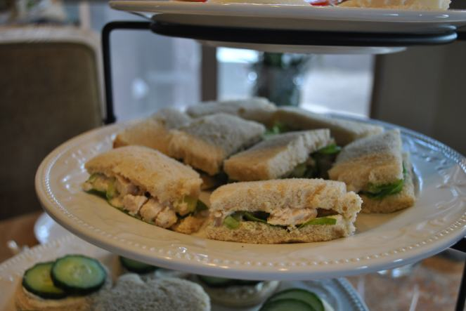 Tarragon Chicken Salad Finger Sandwiches with Butter Lettuce