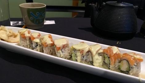 Eating Nemo roll.